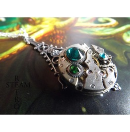 Forest Steampunk Necklace Steampunk Steamretro