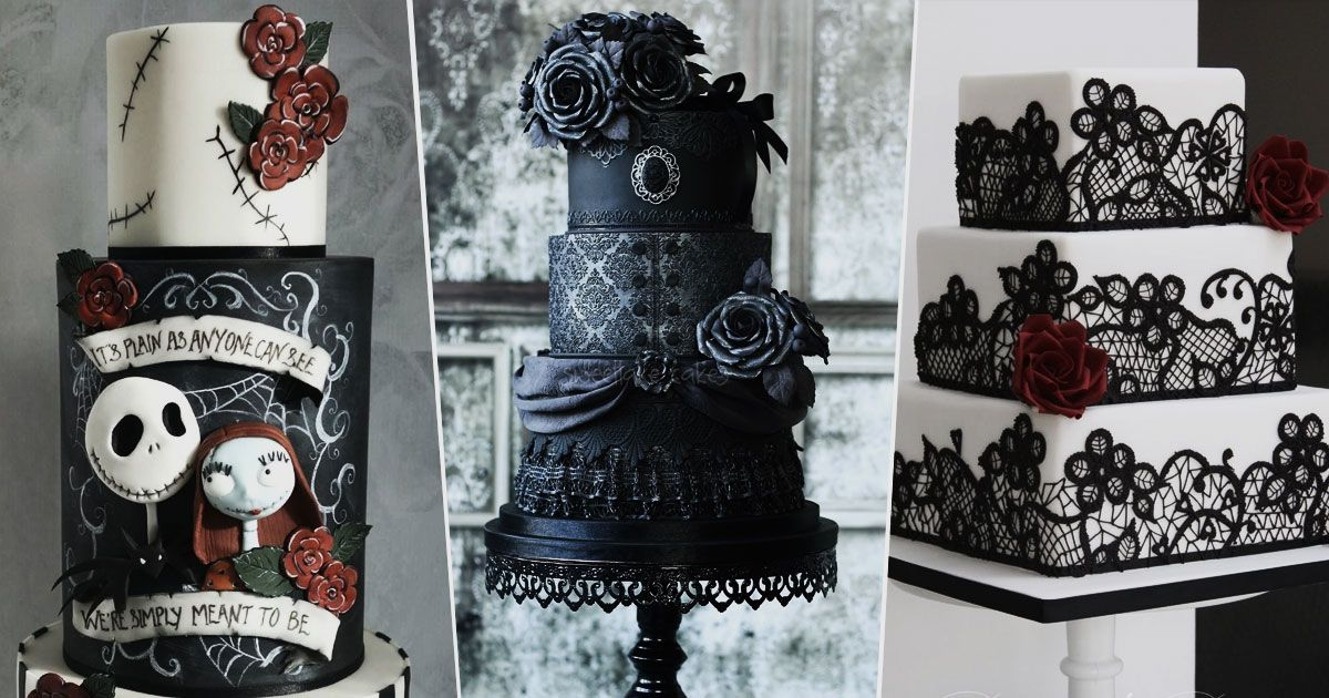 Frighteningly perfect cakes for your goth wedding