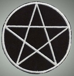 Pentagram Variation 3 Embroidered Patch, 4 X 4 Inch
