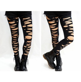 Punk Ripped Footless Tights/ Pantyhose
