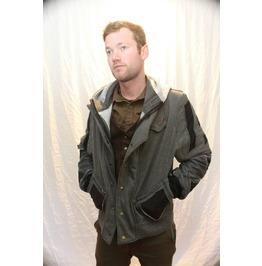 Grey Jacket, Black Accents Hood.