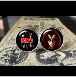 Kiss Gene Simmons Cuff Links Men,Weddings,Gifts,Grooms