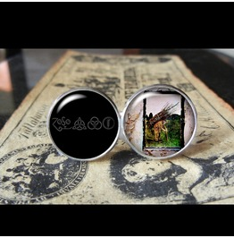 "Led Zeppelin ""4"" Album Cover Cuff Links Men,Weddings"