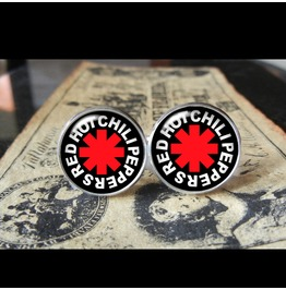Red Hot Chili Peppers Logo Cuff Links Men,Weddings
