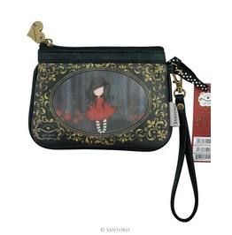 Poppy Wood Zip Purse Gorjuss