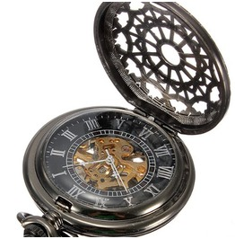 Wind Steampunk Pop Open Pocket Watch