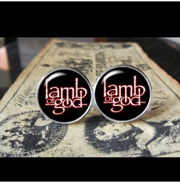 Lamb God Logo Cuff Links Men,Weddings,Groomsmen,Grooms,Gifts,Dads,Boyfriends