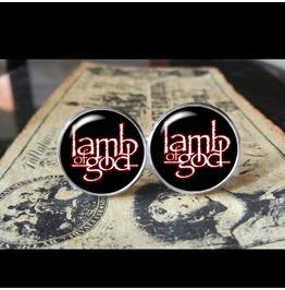 Lamb God Logo Cuff Links Men,Weddings,Groomsmen,Grooms,Gifts,Dads,Boyfriends