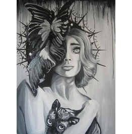 Diedra Nietz alternative art Black and White Paintings