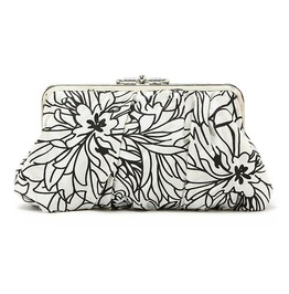 Printed Floral Black White Evening Handbag