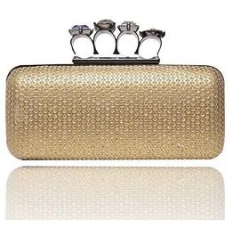 Faux Gem Crystal Punch Evening Handbag