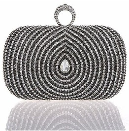 Stunning Drop Shape Crystal Evening Handbag