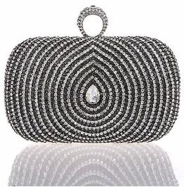 Stunning Drop Shape Crystal Evening Handbag