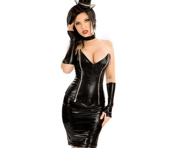 four_piece_black_faux_leather_zip_up_fetish_outfit_dresses_4.JPG