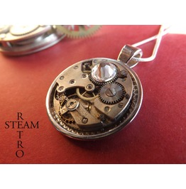 Swarovski Crystal Steampunk Necklace Steampunk Jewelry Steamretro Steampunk Jewellery