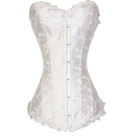 Front Buttons Silvery Corset