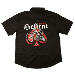 Vintage Hotrod Hellcat Classic Chopper Spades Worker Shirt Men