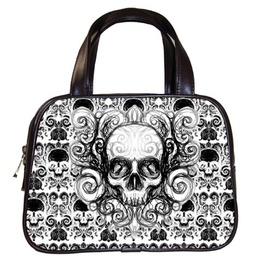 Damask Skull Handbag