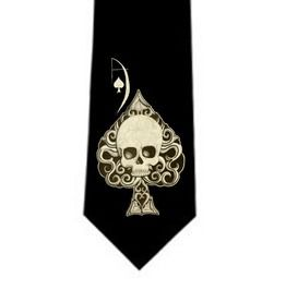 Ace spades necktie ties and neckwear