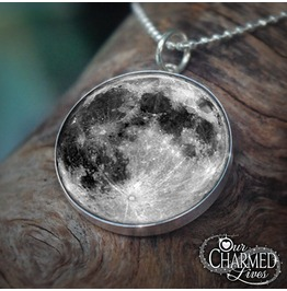Genuine Sterling Full Moon Pendant/Charm