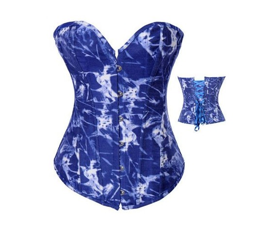 sexy_strapless_blue_white_print_bustier_corset_bustiers_and_corsets_3.JPG