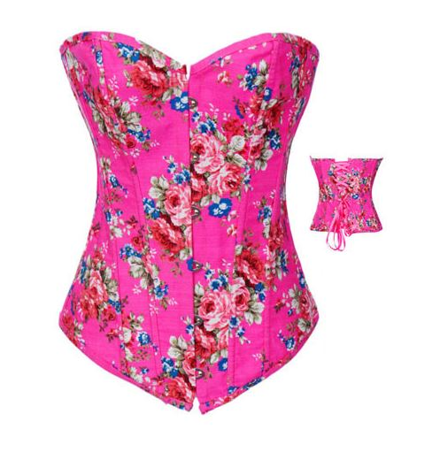 sexy_strapless_pink_floral_print_bustier_corset_bustiers_and_corsets_3.JPG