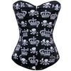 Sexy strapless black skull print bustier corset bustiers and corsets 3