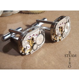 Russian Steampunk Cufflinks