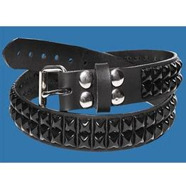 2 row black pyramid belt belts and buckles