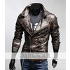 Darksoul new mens jacket bycicle smart fit brown long sleeve shirt slim coats outerwear men coats 3