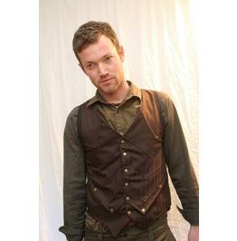 Brown, Pin Striped, Steampunk Gunslinger Waist Coat.