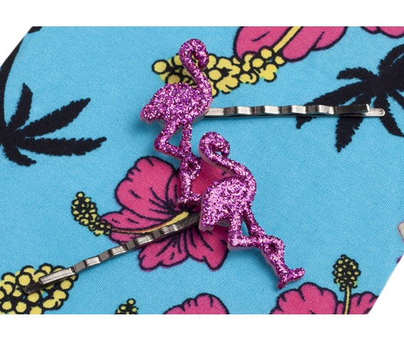 bad_kitty_pink_glitter_kitsch_flamingo_hair_clips_hats_and_caps_3.jpg