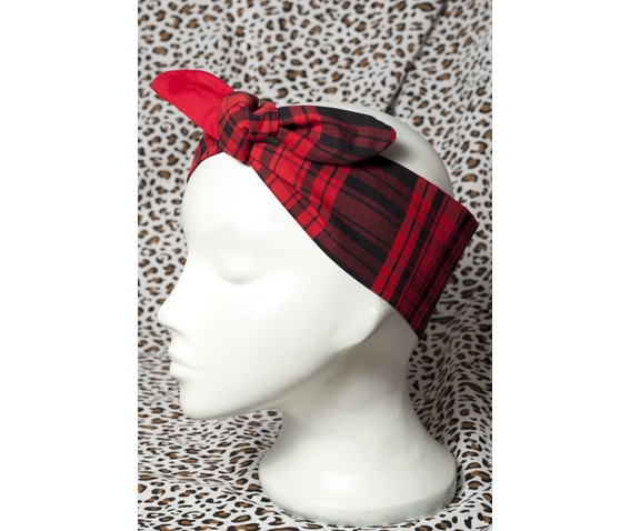 bad_kitty_black_red_tartan_head_scarf_hats_and_caps_3.jpg