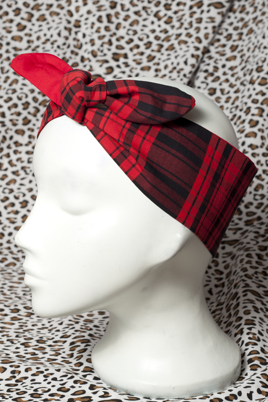 bad_kitty_black_red_tartan_head_scarf_hats_and_caps_3.jpg