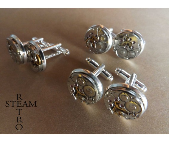 3_matching_sets_steampunk_watch_cufflinks_16mm_vintage_round_chaika_watch_movements_steampunk_jewelry_vintage_upcycled_mens_cuff_links_cufflinks_4.jpg