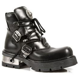 Rock Shoes Unisex 988 Itali Nomada Negro Ankle Boots