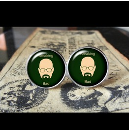 Breaking Bad Heisenberg W/Logo Cuff Links Men,Weddings,Groom