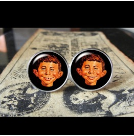 Mad Magazine Alfred E. Neuman Cuff Links Men,Weddings,Groom