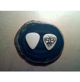 Buffalo Bone Guitar Pick Butterfly Inlay