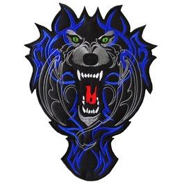 "Wolf (Blue) Back Patch 26 Cm X 33 Cm (10"" X 13 1/4"") Sew"