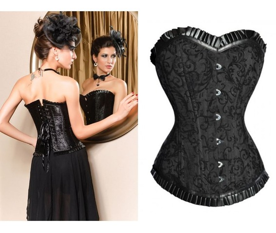 sexy_strapless_black_floral_bustier_corset_bustiers_and_corsets_4.JPG