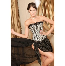 Sexy Pleated Trim Ribbon Bustier Corset