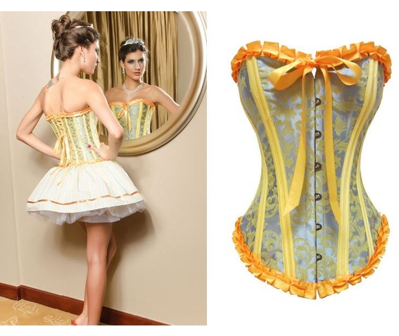 sexy_silvery_yellow_ribbon_bustier_corset_bustiers_and_corsets_3.JPG