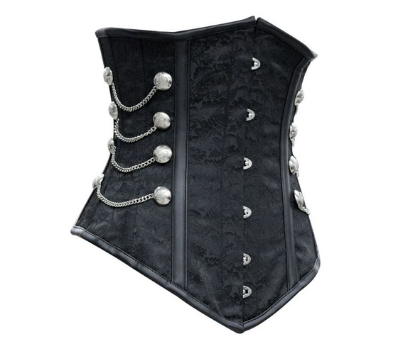 sexy_black_metal_closure_chains_studs_underbust_corset_bustiers_and_corsets_4.JPG