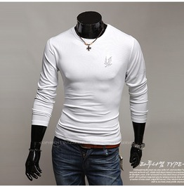 V Neck Shirt Nwa025 T Color : White