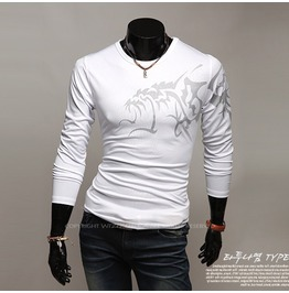 V Neck Shirt Nwa024 T Color : White