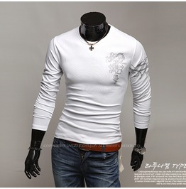 V Neck Shirt Nwa023 T Color : White