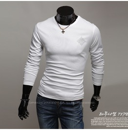V Neck Shirt Nwa021 T Color : White
