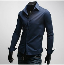 Shirt Fd001 Color : Navy