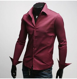 Shirt Fd001 Color : Wine